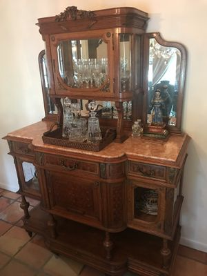 Victorian Antique Wood/Marble Cabinet for Sale in Key Biscayne, FL