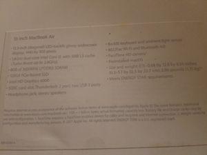 2017 Macbook Air Model A1466/ part number MDQ32LL/A for Sale in Alexandria, VA
