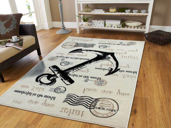 New Anchor rug 5x8 Cream rug
