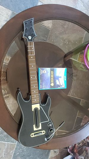 Guitar with Guitar Hero for the Wii U for Sale in Corona, CA