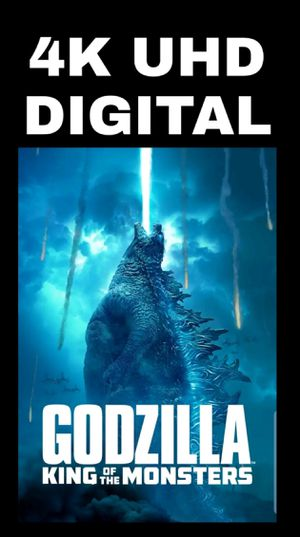 GODZILLA KING OF MONSTERS (4K UHD DIGITAL MOVIE CODE) **FREE SHIPPING**INSTANT DELIVERY HERE for Sale in Chula Vista, CA