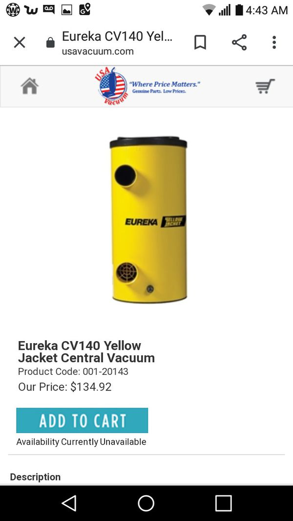Eureka yellow jacket