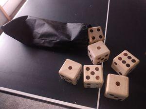 Huge wooden dice for Sale in Louisville, KY