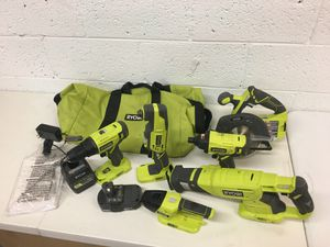Ryobi 18 Volt 6 Tool Kit Circular saw Impact driver Multi Tool Drill Light for Sale in Mesa, AZ