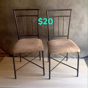 Suede Brown kitchen chairs for Sale in Trabuco Canyon, CA