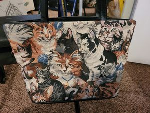 Cat Tapestry Purse Bag Zipped Long Strap , Christmas Shopping Gifts Presents for Sale in Auburn, WA