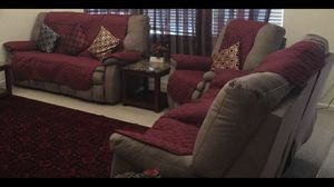 Ashley Living Room Set - Reclining Sofa, Power Loveseat & Recliner for Sale in Fremont, CA