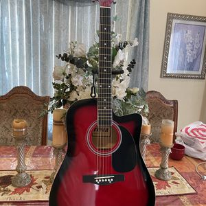 red fever acoustic guitar with metal strings for Sale in Bell Gardens, CA
