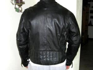 Men's XL Heavy Black Leather Jacket Coat Eddie Bauer for Sale in Norwood, VA