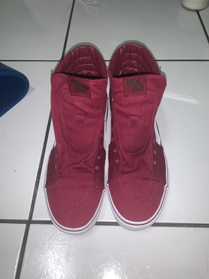burgundy vans no laces size 11 for Sale in Miami, FL