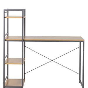 Homestar 47 in. Laptop Desk with Built-In 4 Shelf Bookcase for Sale in Washington, DC