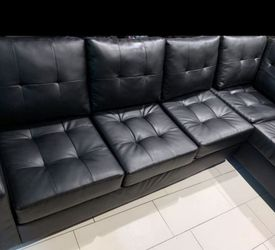 ☑️ Heights Black Faux Leather ❗$39 Down Payment 100 Days Same As Cash for Sale in Austin,  TX