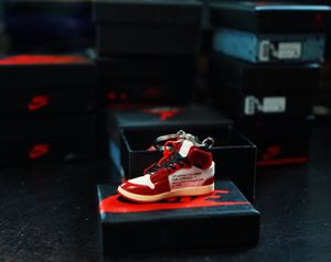 MINI SNEAKER KEYCHAIN 3D AIR JORDAN 1 - THE 10 OFF WHITE for Sale in Dundee, FL