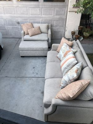 COUCH AND LOVE SEAT & OTTOMAN for Sale in Sun City, AZ