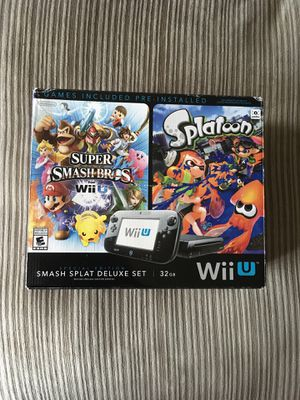 Nintendo Wii U 32GB Smash Splat Deluxe Set Bundle + Lot Of Extras for Sale in Rolling Meadows, IL