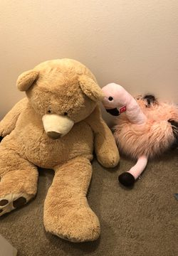 Stuffed animals and two animal kid chairs for Sale in Tacoma,  WA
