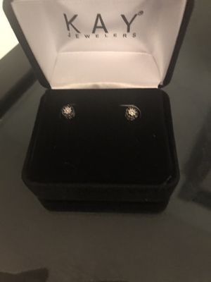 Kay's black and white diamond earrings for Sale in Saint Charles, MD
