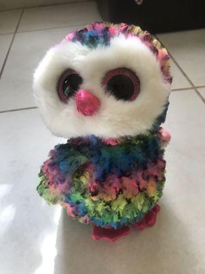 Rainbow Owl Plushy Big for Sale in Coconut Creek, FL