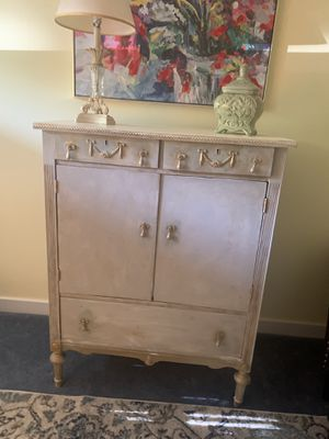 Antique cabinet hand-painted using Annie Sloan chalk paint lightly distressed for Sale in Abington, MA