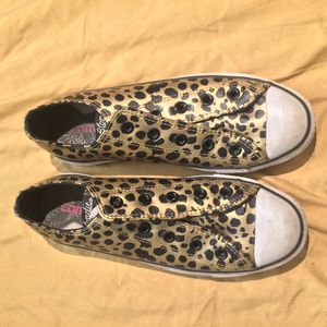 Converse X Blondie Metallic Leopard Print Chucks for Sale in Santa Monica, CA