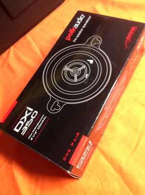"New Polk Audio DXi350 Car Speakers(one pair). 3.5"" 2-way. $169at bestbuy for Sale in Richardson, TX"