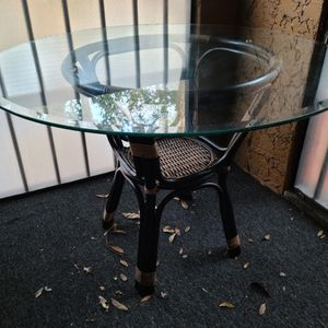 Wicker/Wood Glass Patio Table for Sale in Orlando, FL