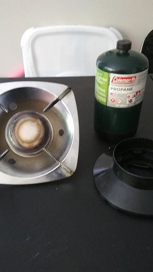 Portable camping stove with full tank for Sale in San Jose, CA