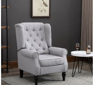 Copper Grove Guanta Tufted Accent Chair with Wooden Legs - Gray for Sale in New Albany, OH