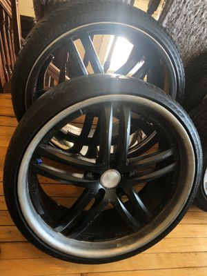 22' Black and Chrome Rims for Sale in Worcester, MA
