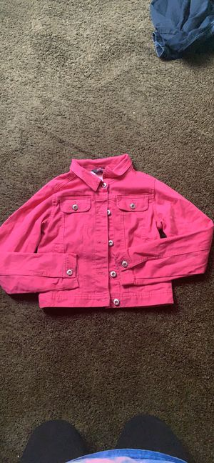 Hot Pink Denim Jean Jacket for Sale in Lithonia, GA