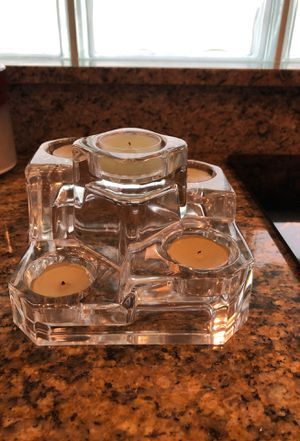 Crystal candle holder for Sale in Delray Beach, FL