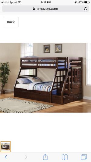 Cherrywood bunk bed twin over full for Sale in Portland, OR