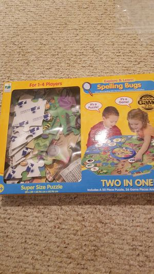 Spelling bugs 2-in-1 Super size puzzle & game for Sale in Houston, TX