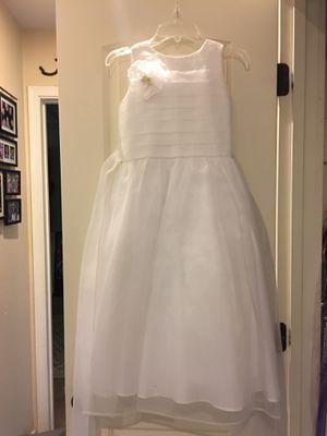 White Nordstrom Flower Girl Dress-$35.00 for Sale in Phoenix, AZ