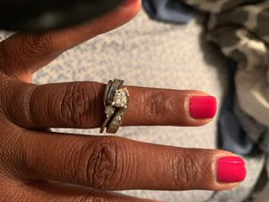 White Gold 2 Carat Wedding Set for Sale in Fort Washington, MD