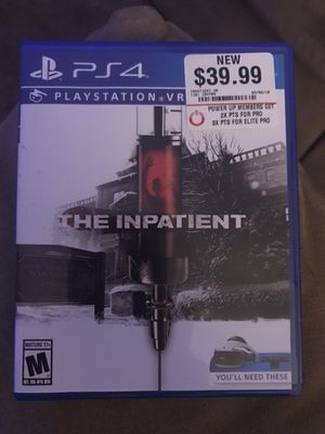 PSVR The Inpatient for Sale in Martinsburg, WV