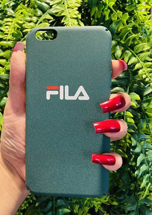 Brand new cool iphone 6+ PLUS case cover slim fit hard sleeve case light weight FILA DESIGNER green mens guys boys case for Sale in San Bernardino, CA