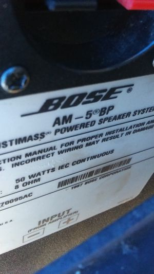 2 Bose Acoustimass Powered Speakers AM-5BP for Sale in Austin, TX