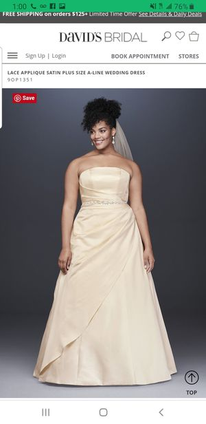 Strapless wedding dress for Sale in Lakeland, FL