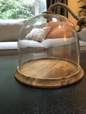 Large PierOne Glass dome food server or decor decoration for Sale in North Bend, WA
