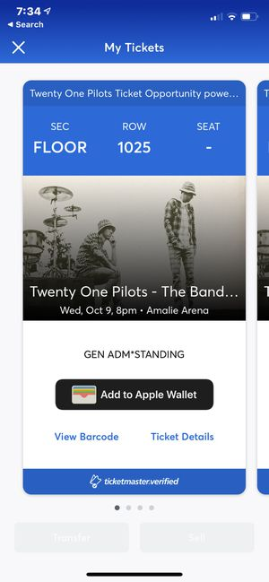 Twenty One Pilots General Admission FLOOR Tickets - 1 for $150 - 2 for $250 for Sale in Tampa, FL