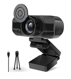 1080P HD USB Webcam with built in Microphone for Desktop or Laptop, Flexible Rotatable Clip and Tripod for Sale in Santa Clara, CA