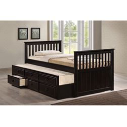 Brand New Cappuccino Wooden Platform Bed for Sale in Pomona,  CA