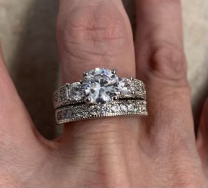 New CZ sterling silver 925 wedding ring size 9 for Sale in Inverness, IL