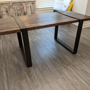 Industrial Style Rustic Dining Table for Sale in Holly Springs, NC