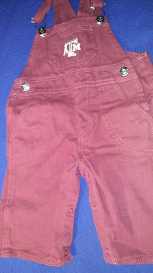 Texas A&M overalls infant size 6-9 months for Sale in Garland, TX