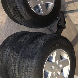 Basically NEW Jeep Wrangler Wheels/Tires for Sale in Aptos, CA