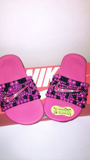 Customized Nike slides for kids for Sale in Columbus, OH