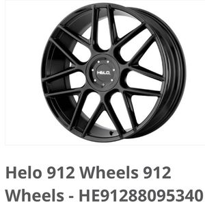 "17"" helo rims and tires for Sale in Coventry, RI"