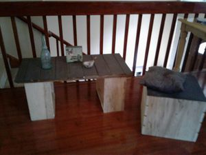 Coffee table w matching storAge seat for Sale in Chandler, AZ